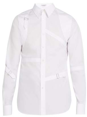 Alexander McQueen Harness Cotton Shirt - Mens - White