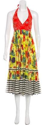 Jean Paul Gaultier Printed Halter Dress Yellow Printed Halter Dress
