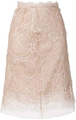 Ermanno Scervino embroidered fitted skirt
