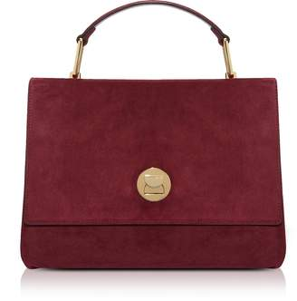 Coccinelle Liya Grape Suede Satchel Bag