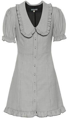 ALEXACHUNG Houndstooth wool-blend dress