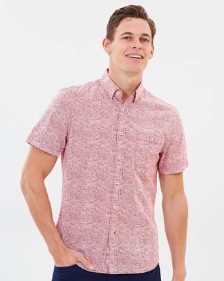 Sportscraft Short Sleeve Tapered Mills Floral Shirt