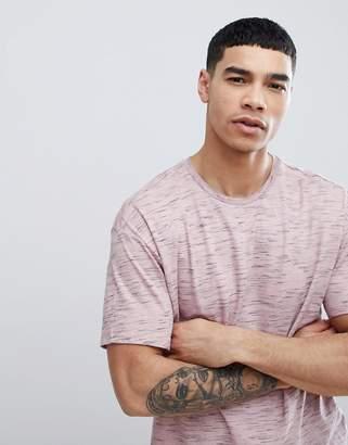 Bershka Oversized Flecked T-Shirt In Pink