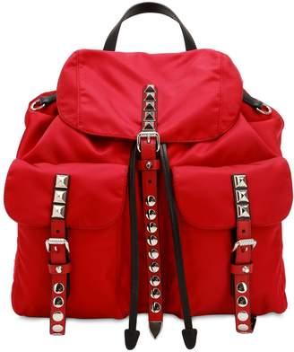 Prada Nylon Canvas Backpack