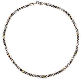 Lagos Two-Tone Signature Caviar Beaded Necklace