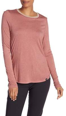 Scotch & Soda Crew Neck Long Sleeve Tee with Necklace