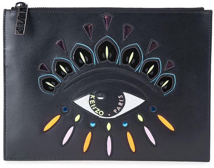 KenzoKenzo Kenzo Eye Leather Clutch