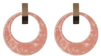 Natasha Accessories Frontal Hoop Drop Earrings