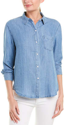 Rails Ingrid Linen-Blend Denim Shirt