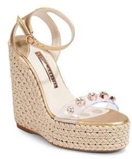 Sophia Webster Dina Gem Wedge Espadrilles Sandals