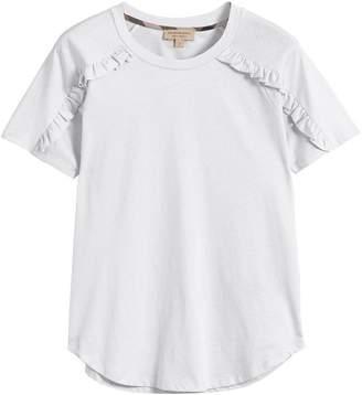 Burberry ruffle detail T-shirt