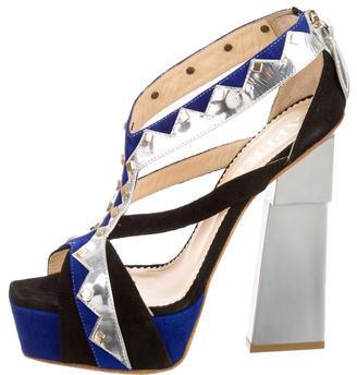 AperlaïAperlai Studded Platform Sandals