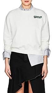 """Off-White Women's """"Woman"""" Cotton Terry Sweatshirt-White"""