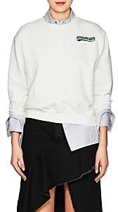 "Off-White Off - White c/o Virgil Abloh Women's ""Woman"" Cotton Terry Sweatshirt - White"