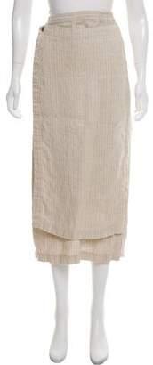 eskandar Linen-Blend Wrap Skirt