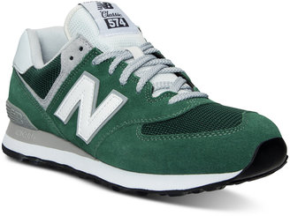 New Balance Men's 574 Varsity Classic Casual Sneakers from Finish Line $79.99 thestylecure.com