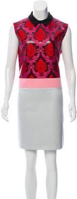 Mary Katrantzou Silk and Wool Blend Brocade Dress Pink Silk and Wool Blend Brocade Dress