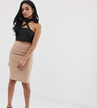 adb29b2101 Asos DESIGN Petite high waisted pencil skirt
