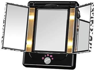 Conair Two-Sided Lighted Makeup Mirror with 3 Panels and 4 Light Settings; Cheetah $39.99 thestylecure.com