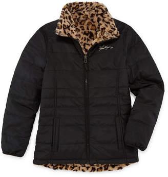 Weatherproof Girls Fleece Lined Reversible Midweight Puffer Jacket Plus-Big Kid