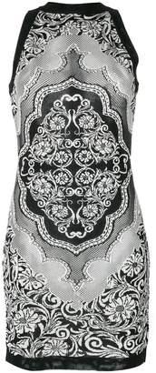 Balmain jacquard lace dress