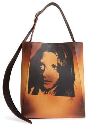 Calvin Klein x Andy Warhol Foundation Sandra Brant Calfskin Leather Bucket Bag