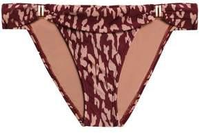 Vix Paula Hermanny Bia Printed Low-Rise Bikini Briefs