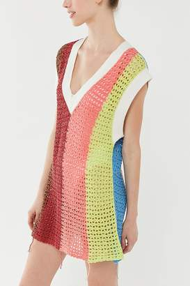 Urban Outfitters Striped Tunic Sweater Vest
