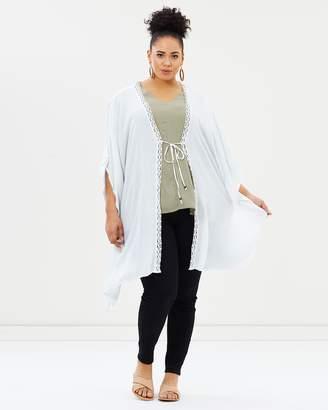 Evans Crochet Cover Up Kimono