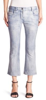 Alexander WangAlexander Wang Slightly Flared Cropped Leather Pants