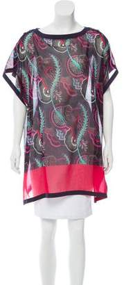 Hermes Printed Oversize Tunic