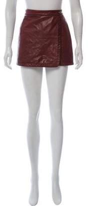 A.L.C. Lamb Leather Wrap Skirt
