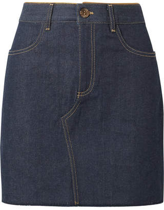 Victoria Beckham Victoria, Denim Mini Skirt - Mid denim