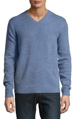 Black & Brown Black Brown V-Neck Lambswool Sweater