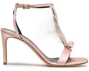 Lanvin Embellished Satin Sandals