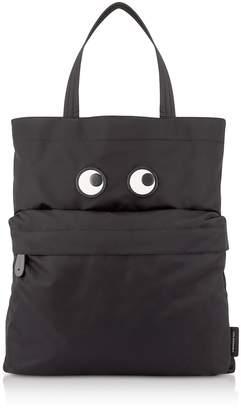Anya Hindmarch Black Nylon Eye Tote Bag