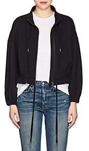 Frame Women's Cotton Terry Crop Jacket-Black