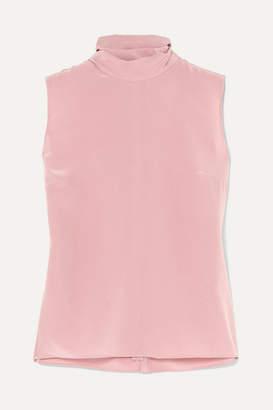 Roksanda Bow-detailed Silk Crepe De Chine Blouse - Pink