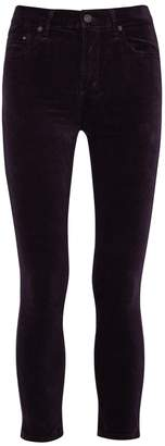 Citizens of Humanity Rocket Crop Dark Purple Velvet Jeans