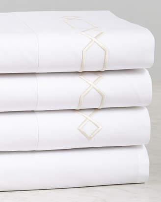 Dea Italian Linens Lione Embroidered Cotton Sheet Set