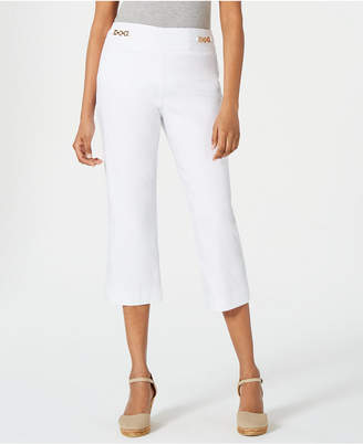JM Collection Cropped Chain-Link Pants