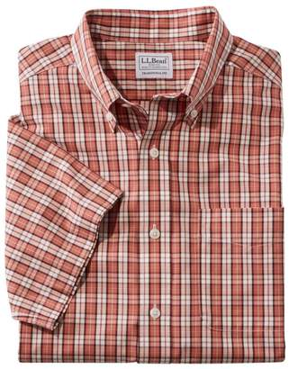 L.L. Bean L.L.Bean Men's Wrinkle-Free Vacationland Shirt, Traditional Short-Sleeve Plaid