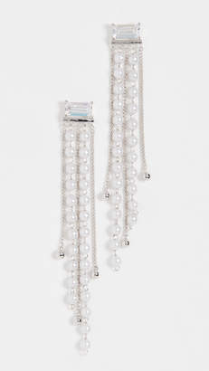Theia Jewelry Ella Earrings With Petite Pearl Drop And Chain