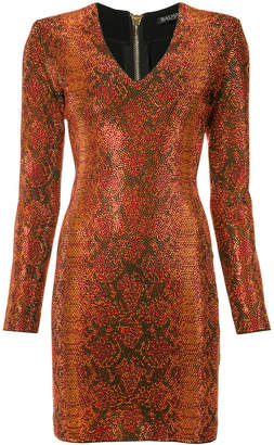 Balmain ornamented knit dress