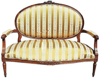 One Kings Lane Vintage French Louis XVI-Style Settee - House of Charm Antiques