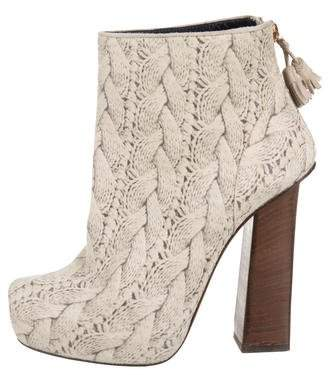 Pollini Printed Ankle Boots