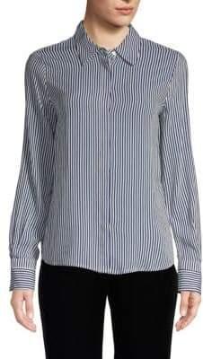 philosophy Long-Sleeve Striped Blouse