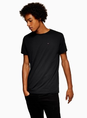 Topman TOMMY JEANS Black Original Jersey T-Shirt