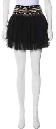 Pierre Balmain Studded-Accented Mini Skirt