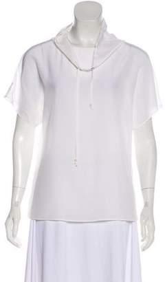 Emporio Armani Silk Short Sleeve Top